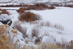 Frozen Owyhee River.