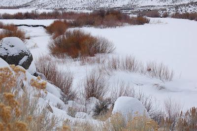 Frozen Owyhee River.