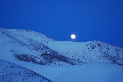 Moonrise over Hailey ID hills. Photo by Lisa Callagher Onizuka