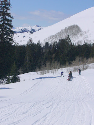 Ski trek to a yurt near Sun Valley, ID.