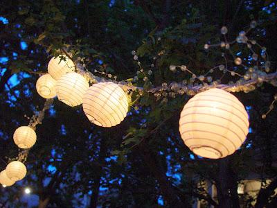 Lanterns at Audrey's wedding.