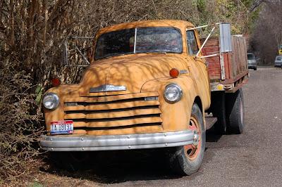 Cool old orange truck. Boise, ID.