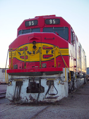 Sante Fe Diesel Engine, near Barstow CA train yard.
