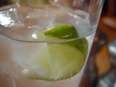 Lime in ice water.