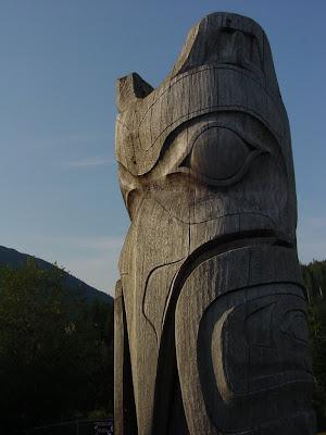 Totem near Ketchikan, Alaska.