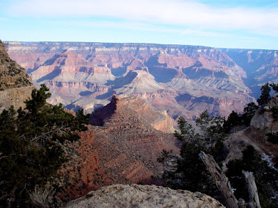 Grand Canyon, South Rim view near Bright Angel Lodge.