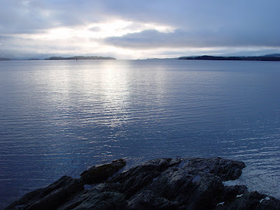 Silver water glistening smooth - near Mountain Point, Ketchikan AK.