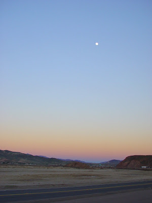Moon over Barstow, CA.