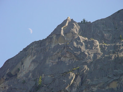 Moon over Yosemite.