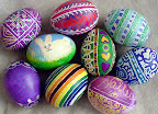 Ukranian style Easter eggs.