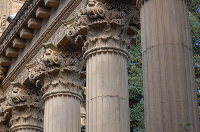 Column Detail. Palace of Fine Arts, San Francisco CA. Photo by Lisa Callagher Onizuka
