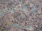 Pink granite and lichen - Enchanted Rock near Fredricksburg, Texas.