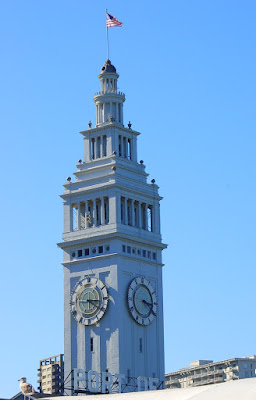 San Francisco Ferry Building clock tower. Photo by Lisa Callagher Onizuka