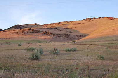 Early evening light on hillside off Highway 20 in Idaho.
