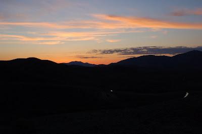 Idaho mountain sunset.