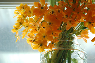 Molly's orange bouquet.