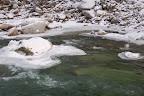 Payette River near Crouch, ID in winter.