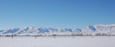 Snowy mountains near Sun Valley, ID.