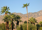 Palm Springs, CA mountain backdrop.