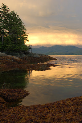 Dramatic sunset sky near Ketchikan, AK - Photo by Lisa Callagher Onizuka