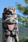 Mother and baby bear totem pole. Cape Fox, Ketchikan AK.