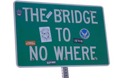 The Bridge to No Where. Mountain City, Nevada.