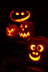 Happy Halloween! Four jack-o-lanterns carved by Molly Callagher, Seiji Onizuka and Lisa Callagher Onizuka. Photo by Lisa.