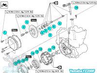 46+ 2007 Yamaha Yz250F Engine Diagram PNG