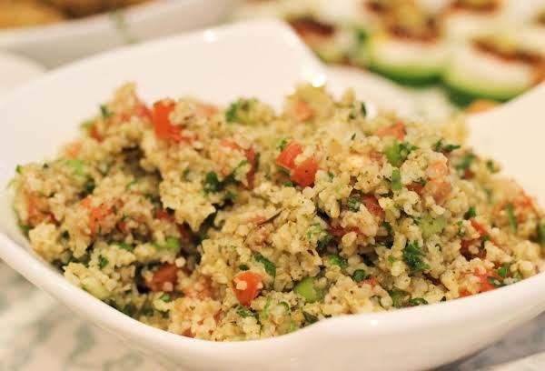 Tabbouleh Salad With Marinated Artichokes Recipe