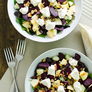 Roasted Beet Salad with Cashew Cheese