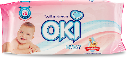 toallas humedas oki baby lotion 72und