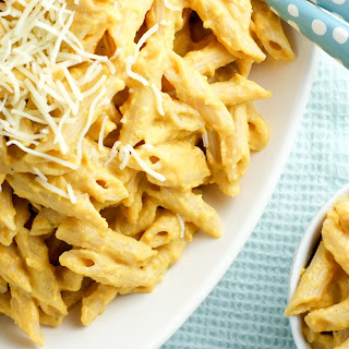 Protein Packed Butternut Squash Pasta.