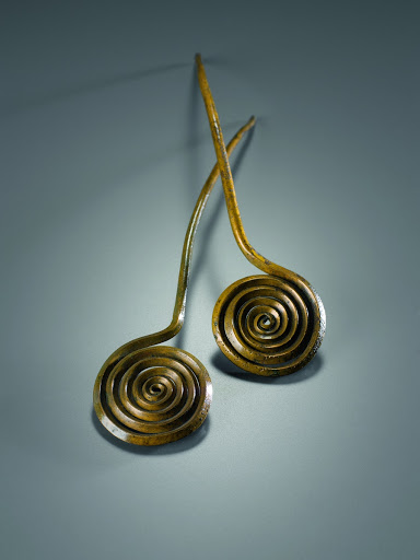Two Spiral-headed Pins