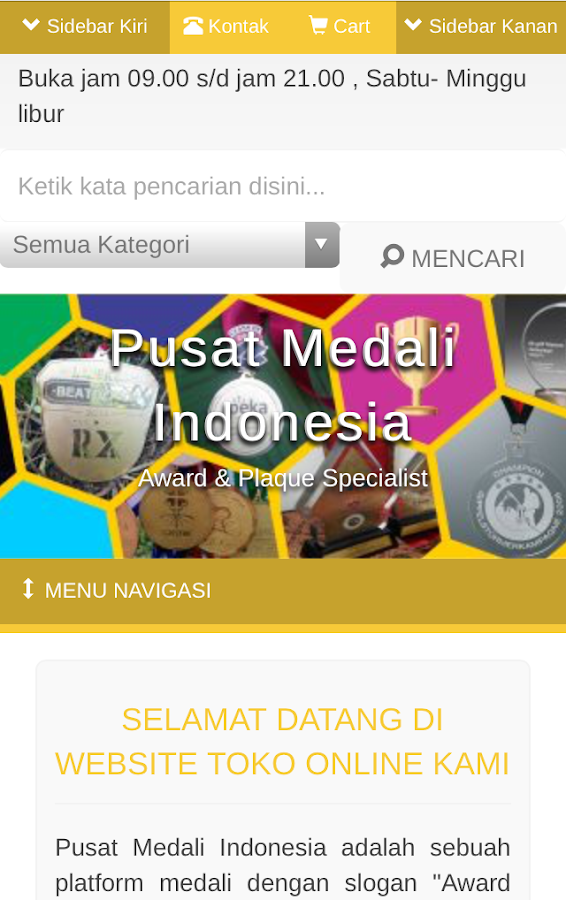 Pusat Medali Indonesia- screenshot