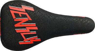 SDG Apollo Sensus Saddle: Chromoly Rails, 1pc Black Aramid Embossed Cover with Red Sensus Logo and Color alternate image 0