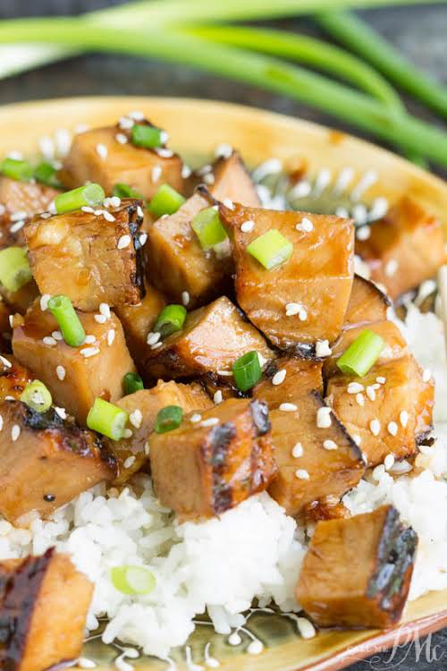"Honey Soy Pork Loin""Honey Soy Pork Loin is spicy, sweet, and very..."