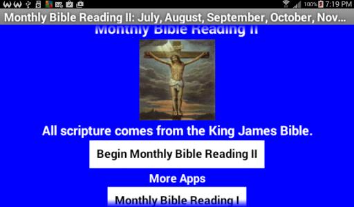 Monthly Bible Reading II