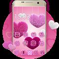 Fluffy diamond Hearts Theme: Pink Comics Launcher download