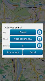 Map of Prague offline - náhled