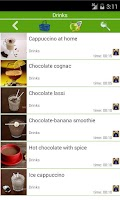 Screenshot of Chocolate recipes