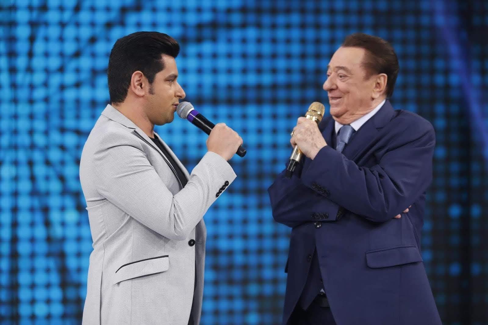 Léo Magalhães e Raul Gil