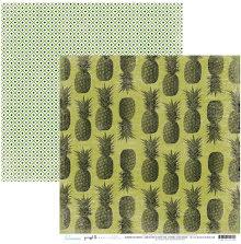 Heidi Swapp Pineapple Crush Cardstock 12X12 - Pina Colada UTGÅENDE