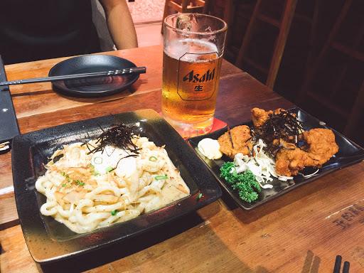 明太子馬鈴薯/冷烏龍麵/炸豆腐/炸雞塊搭配著啤酒真的好好吃好享受👍🏻 餐廳的服務業一級棒~  推推推
