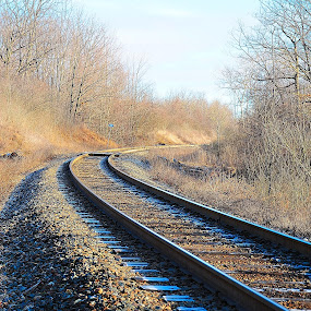 just around the bend by Melissa Poling - Transportation Trains
