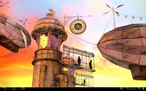 3D Steampunk Travel Pro lwp Screenshot