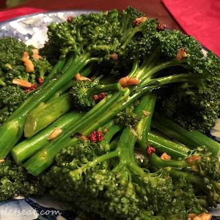 Easy Spicy Asian Broccolini.