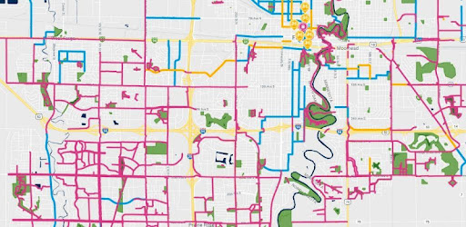 Your mobile bike map of the Fargo-Moorhead metro area.