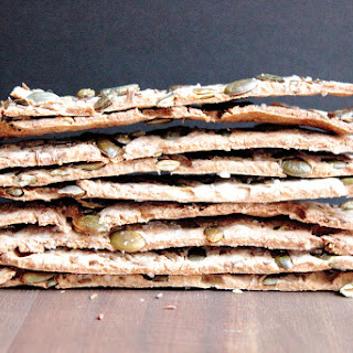 Rye, Pumpkin Seed, Caraway Crisp Breads And Thyme And Olive Oil Grissini, With Cheese And Fruits..