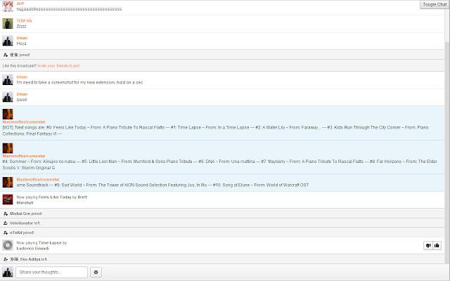 Grooveshark Chat Fullscreen