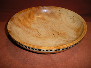 """Photo: Pacific Yew with Inlay 9"""" x 2 1/4""""  $125"""